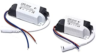 2 x Driver LED, 18-24 W Transformador para plafón LED, alimentador panel LED, conector CC para plafón LED (18-24 W)