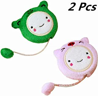 YEQIN 2 Pcs Novelty Nice Funny Cute Cartoon Retractable Tape Measure Plush Ruler 60-Inch/150cm for Sewing Tailor Fabric Measurements Tape