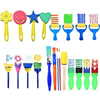 MYhose Pennelli per Pittura in Spugna per Bambini per l'apprendimento precoce Fai-da-Te, Kit per Pittura per Bambini, Colori Assortiti 56 Pezzi/Set #6
