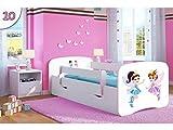Kocot Kids Kinderbett Jugendbett 70x140 80x160 80x180 Weiß mit Rausfallschutz
