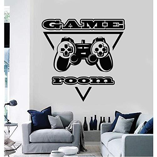Vinyl muursticker PC Game Player Joystick Video Game Game kamer Sticker muurschildering Game Fan tiener jongen slaapkamer Home Decor 42x42cm
