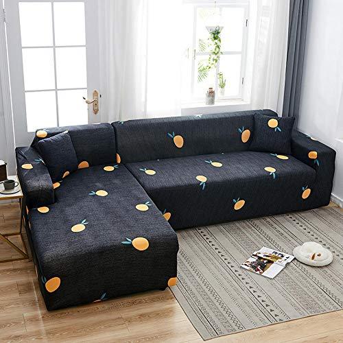 Funda de Sofá Elástica Cubierta 1 Plaza, Fundas de sofá en Forma de L con Estampado de celosía, Fundas elásticas Antipolvo Protectoras de sofá V 90-140cm (1pcs)