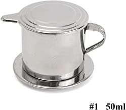 Vietnamese Coffee Filter Maker,Stainless Steel Vietnam Vietnamese Coffee Simple Drip Filter Maker Infuser New (50ml)