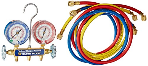 Yellow Jacket Mechanical Manifold Gauge Set, 2-Valve