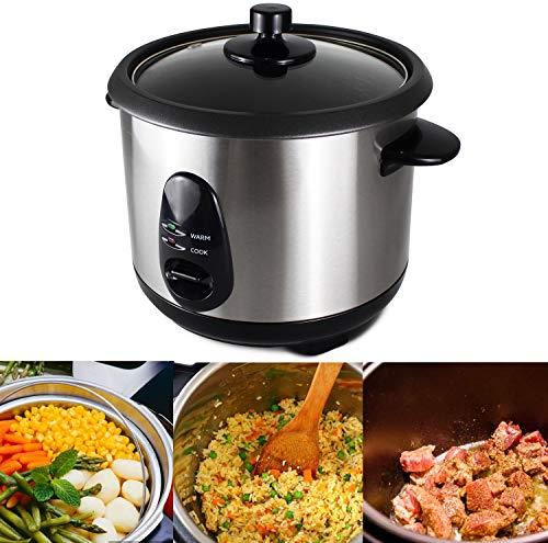 Sotech - Cuiseur à Riz,Autocuiseur riz,Auto cuiseur a riz,Rice cooker,Machine à Riz,Cuiseur de riz,1 Litre(s), Matériau: Couvercle en verre, Puissance électrique: 400 W