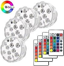 Piscina a LED con telecomando, Keyixing 4 confezioni Luci su