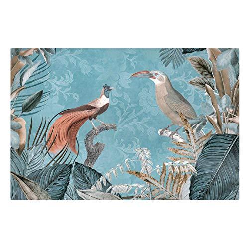 Bilderwelten Cuadro en Lienzo - Vintage - Birds of Paradise - 100x150cm - Recycled Canvas