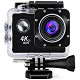 Squaircle [* 2IN1 Camera - Normal+Sports Use] 4K Ultra HD Water Resistant Sports Action Camera...