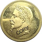 Exquisite Collection of Commemorative Coins France 1867 Napoleon III Gold Coin 5 Dollars 25 Francs Brass Metal Copy Coin Commemorative Coins US Silver Dollar Commemorative Collectible Coin Crafts
