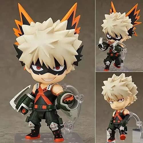 MICOKID My Hero Academia Bakugo Katsuki Q Versión Nendoroid Cambio de Cara Movible en Caja Modelo de Personaje de Anime Colección Juguete de Regalo Figura de acción Muñeca Decoración de Escritorio