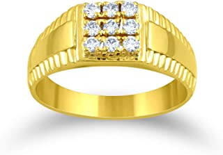 9164500dfe Senco Gold 18k (750) Yellow Gold and Solitaire Ring for Men