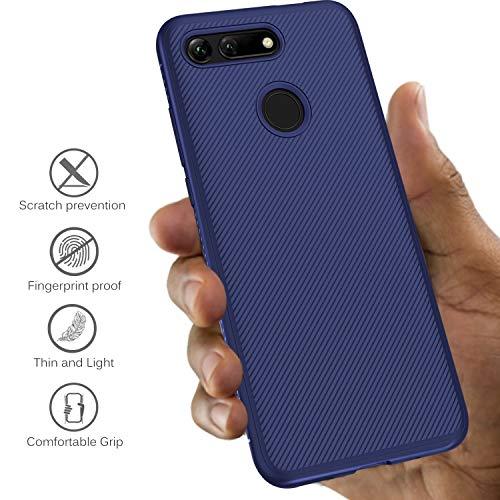 iBetter für Honor View 20 Hülle, Ultra Thin Tasche Cover Silikon Handyhülle Stoßfest Case Schutzhülle Shock Absorption Backcover Hüllen passt für Honor View 20/Honor V20 Smartphone (Blau) - 3