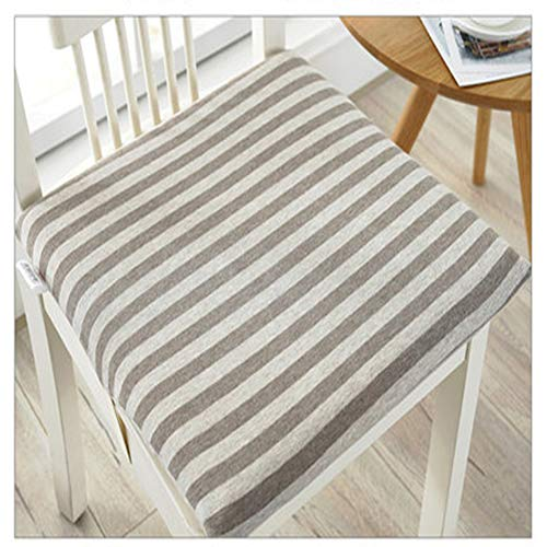 XiXiBoom Memory Foam Chair Seat Cushion Square Striped Dining Chair Chair Pad Mat Washable Breathable Cushion For Office Chair Home Decoration Seat Cushion