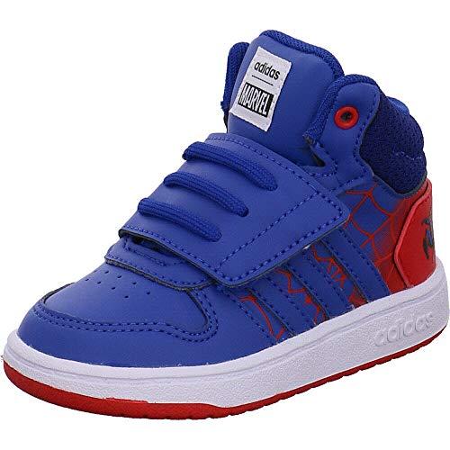 adidas Jungen Hoops Mid 2.0 I Leichtathletik-Schuh, Scarlet/Blau/Weiß FTWR, 23 EU