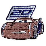 Cars 3 'Jackson Storm' Disney - Parches termoadhesivos bordados aplique para ropa, tamaño: 8 x 6,4 cm