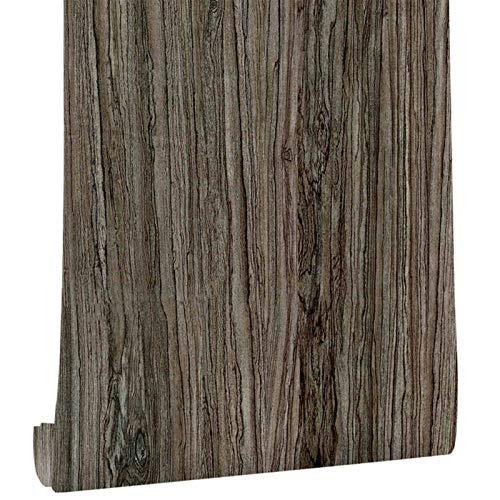 Peel And Stick Wallpaper - Decorative Self Adhesive Vinyl Film Wallpaper For Furniture Cabinet Countertop Shelf Paper (Color : Wood Grain, Dimensions : 1mx45cm)