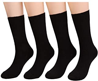Womens Soft Comfortable Socks Crew Casual Sock Knit by CHOEES (Pack of 4-5 Pairs | Size 5-10)