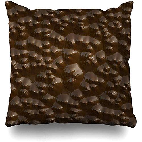 SSHELEY kussenslopen zoetwaren bruin bump bulging chocolade closeup food zoete drank Bumpy Calorie Cocoa Dark