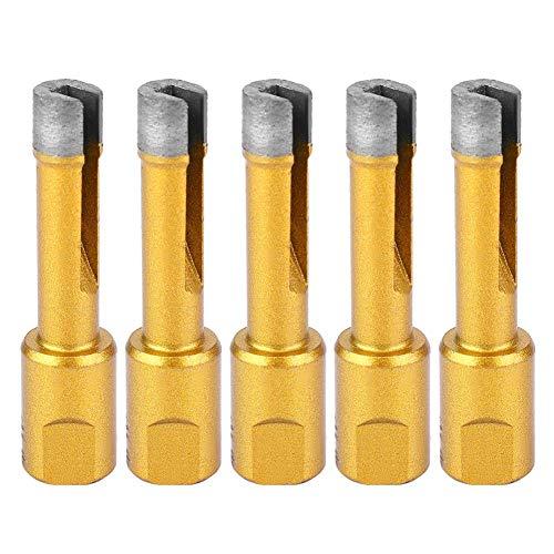 5-delig diamantslijpgereedschap voor haakse slijper, openingsgat, boren, voor marmer, keramische tegels, granieten wand, 10 mm