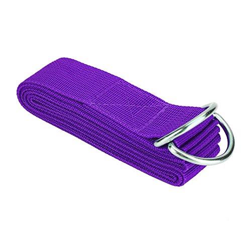 Correa Elástica Ajustable Cinturones con Anillo En D Gimnasio Cintura Pierna Fitness Deportes Cinturón De Yoga