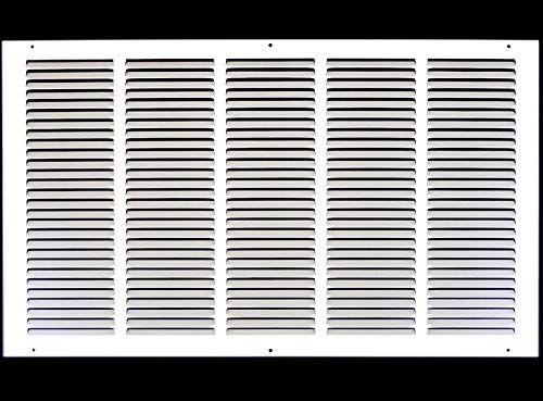 24'w X 16'h Steel Return Air Grilles - Sidewall and Ceiling - HVAC Duct Cover - White [Outer Dimensions: 25.75'w X 17.75'h]