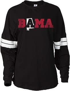 NCAA Alabama Crimson Tide Women's Striped Oversized Football Tee