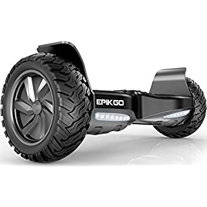 "EPIKGO Self Balancing Scooter Hover Self-Balance Board – UL2272 Certified, All-Terrain 8.5"" Alloy Wheel, 400W Dual-Motor, LG Battery, Board Hover Tough Road Condition [Classic Series, Space Grey]"