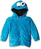 Sesame Street Toddler Boys' Fuzzy Costume Hoodie (Multiple Characters), Cookie Monster, 3T