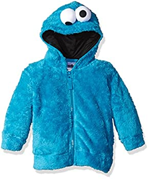 Sesame Street Toddler Boys  Fuzzy Costume Hoodie  Multiple Characters  Cookie Monster 3T