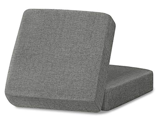 Linen Couch Cushion Covers, Sofa Cover Sofa Furniture Protector Slipcover with Bottom Tie rope, Soft Non-Slip Non-Wrinkle Non-Sticky Suitable for Chair Bench Settee Seat Loveseat Light Gray 2 Pieces -  Naturoom