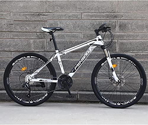 Bicicleta de montaña para hombres / mujeres, bicicletas de carretera para deportes al aire libre para adultos de 24/26 pulgadas, bicicletas de uso urbano, frenos de disco y horquillas de suspensión