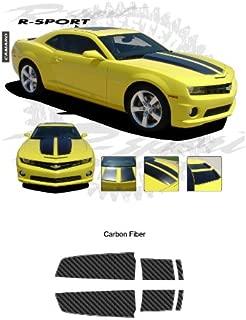 Chevrolet Camaro 2010 to 2013 Carbon Fiber Texture Rally Stripes Graphic Kit