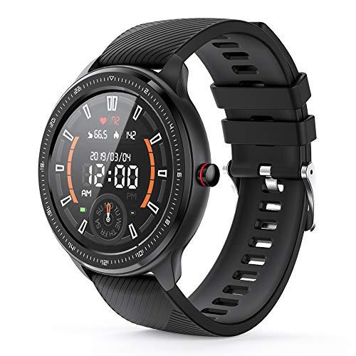 Smartwatch Voll Touch Screen Blutdruck Uhr mit Pulsuhren Sport Uhr Aktivitätstracker Schlafmonitor Schrittzähler Smartwatch Damen Herren Smart Watch, Fitness Tracker für iOS Android