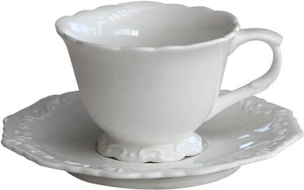 """Preisvergleich für Chic Antique Tasse mit Unterteller """"Provence"""" nostalgisch Porzellan Kaffeetasse"""