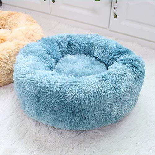 Lavable a MáQuinaCama de Felpa Deluxe Plush Redonda de Pelo Nido de Donut para Mascotas Deluxe para Gatos y Perros Calentar/D / 70cm