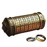 anbiwangluo da Vinci Code Mini Cryptex Romantico Regalo di Compleanno di San Valentino (Bronze)
