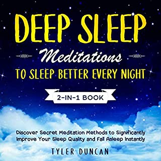 Deep Sleep Meditations to Sleep Better Every Night: 2-in-1 Book cover art