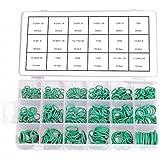 Surtido de 420 juntas tóricas de color verde, resistentes a