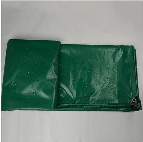 AJZGF en Plein air Camion bache imperméable à l'eau de Prougeection Solaire de bache de Prougeection de Toit de Tissu de Tente Anti-corrosif Anti-vieillissement, Vert