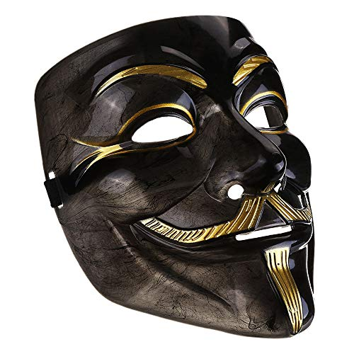IDOXE Black V Mask mask White Guy Halloween Party Masker Dress Fancy Cosplay