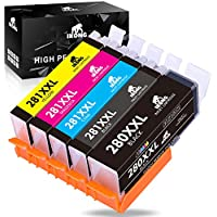 5-Pack IKONG Canon PGI-280XXL / CLI-281XXL Compatible Replacement Ink Cartridges for Canon Printers