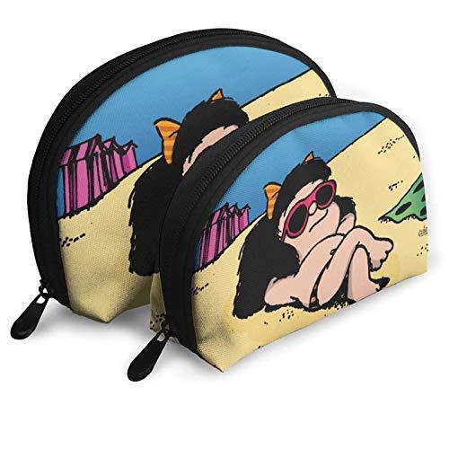 XCNGG Bolsa de almacenamiento Mafalda Bolsa de aseo portátil Bolsa de maquillaje Bolsa de almacenamiento Estuche de cosméticos Bolsa de viaje impermeable Bolsa de viaje portátil multifunción con crema