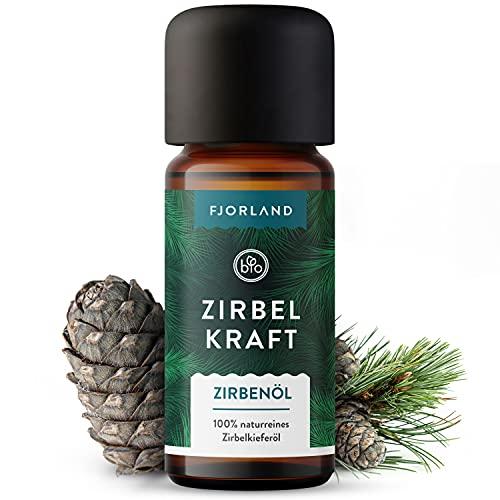 Zirbenöl BIO naturrein - 10ml naturreines ätherisches Zirbelkiefernöl - Vegan & tierversuchsfrei - Made in Germany - Für Diffusoren, Duftlampen, Aromatherapie, Raumduft, Verdampfer