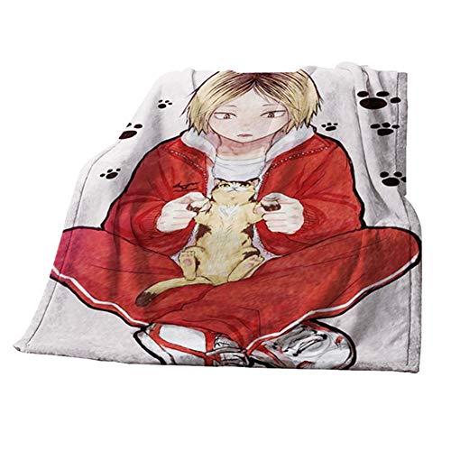 gerFogoo DaiWeiPeng1991 Haikyuu Decke Anime Super Soft Fleece Bettdecke Sofa Teppich Fleece Überwurfdecke, 40x60 Zoll(Style 2)