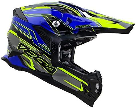 Vega Helmets Unisex Adult Off Road MCX Lightweight Fully Loaded Dirt Bike Helmet Blue Stinger product image