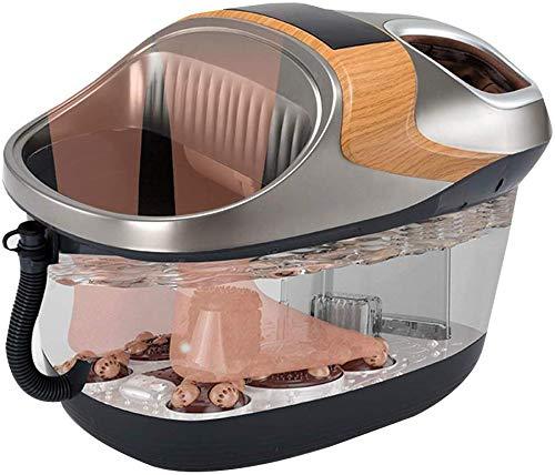 Elektrische voetmassage-apparaat dubbele voet barrel automatische verwarming thermostaat voetbad schoonheidssalon pedicure machine elektrische massage wastafel (kleur: zwart Maat: 54 5 * 37 1 54,5 x 37,1 x 39,5 cm-zwart.
