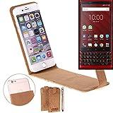 K-S-Trade® Cork Case Flip Style Cover For Blackberry KEY2