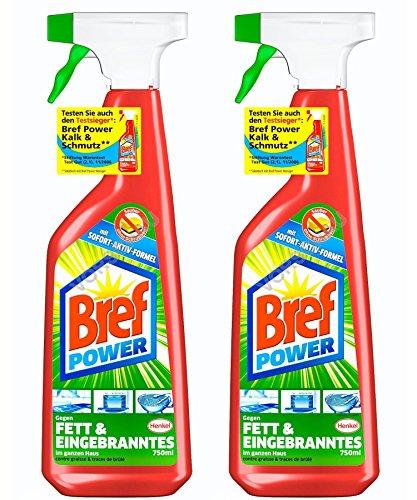 Bref Power Fettlöser-Spray, 2er Pack (2 x 750 ml)