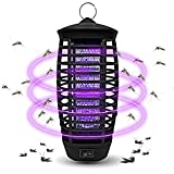 Wanqueen Fruit Fly Bug Zapper Mosquito Lamp Insects Trap Gnat Killer for Indoor and Outdoor, A1, 01-Black