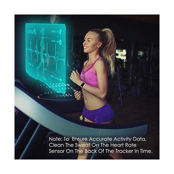 CHEREEKI Pulsera Actividad, Pulsera de Actividad IP68 con Pulsómetro, LCD táctil Pulsera Inteligente Monitor de Calorías… 7